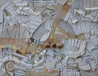 Unicorn Eggs (2017) 11x14 Mixed Media Mosaic on Wood Panel
