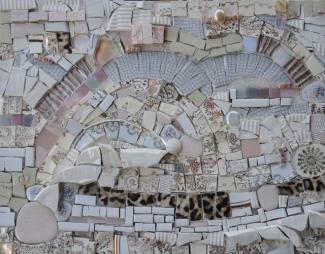 Moonstruck 1987 (2017) 11x14 Mixed Media Mosaic on Wood Panel